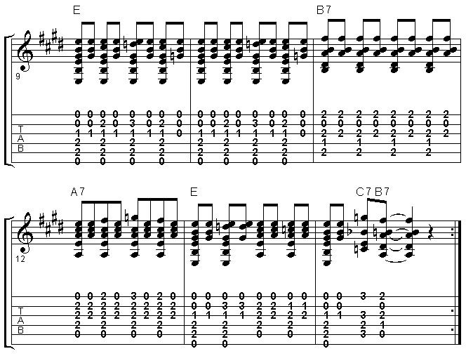 Blues Guitar - Treble Shuffle - Brownie McGhee lick