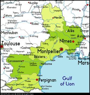 kart over sør frankrike Languedoc Roussillon   Hovedside kart over sør frankrike